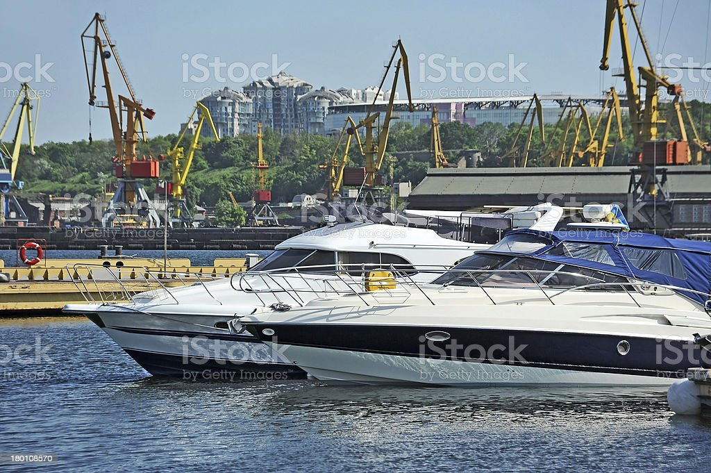 Motor yacht royalty-free stock photo