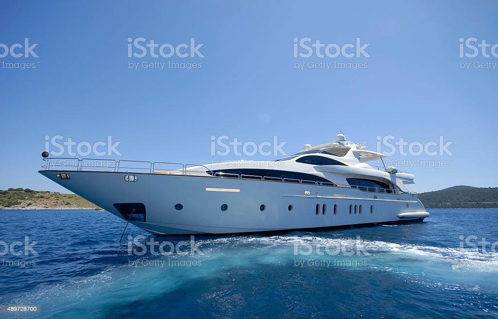 Motor Yacht stock photo