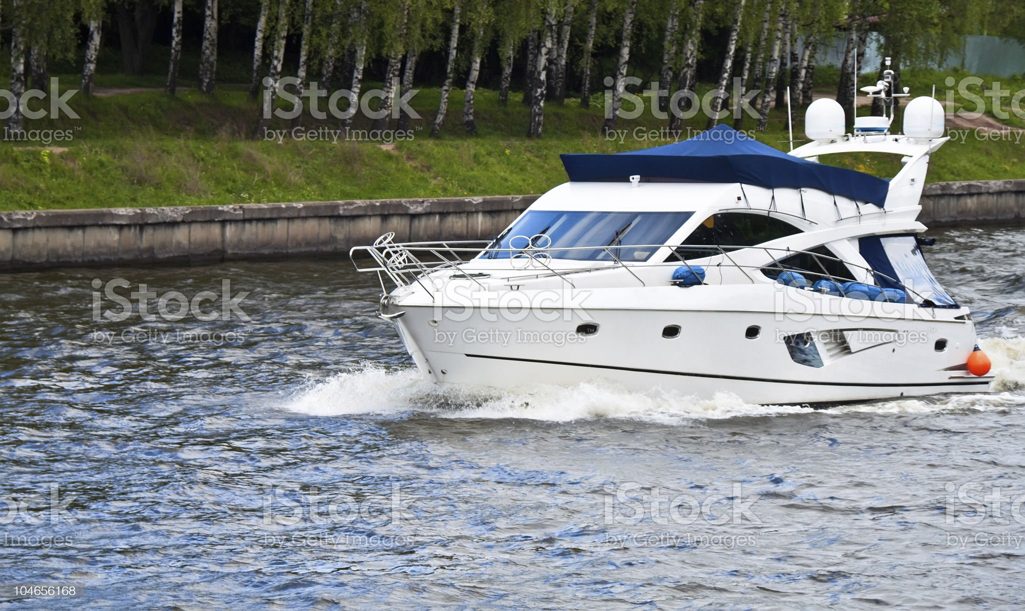 Motor yatch royalty-free stock photo
