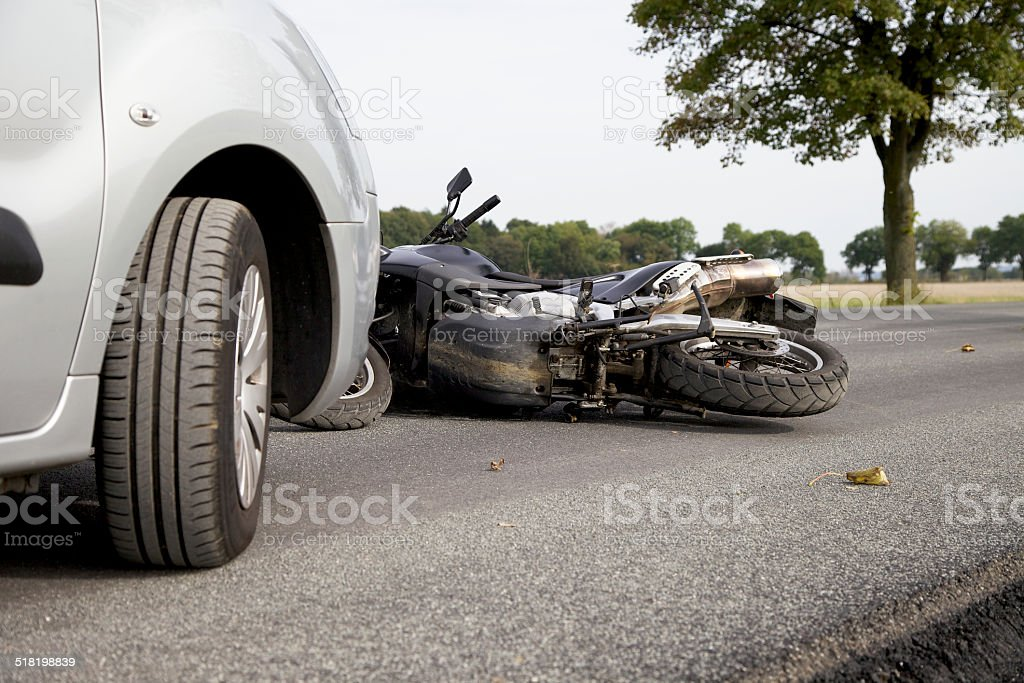 Motorbike Accident stock photo