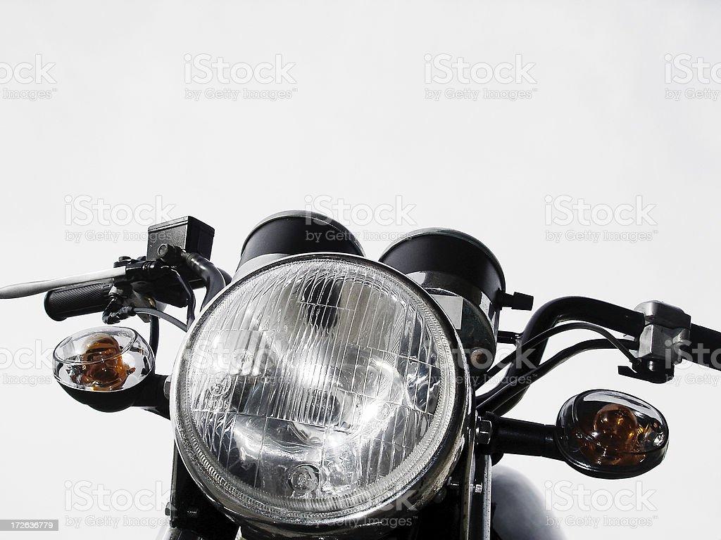 Motorbike Front stock photo