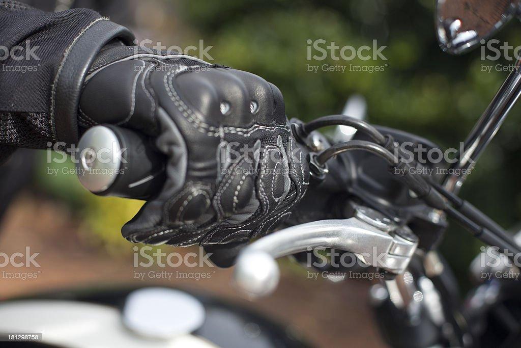 Motorbike Grip stock photo