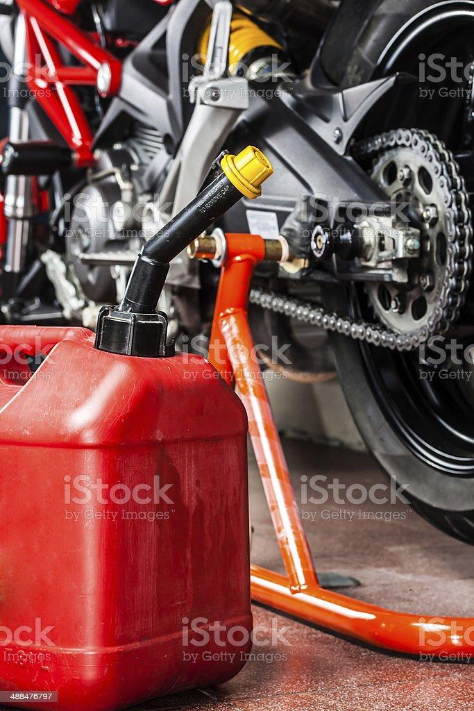 motorbike maintenance service royalty-free stock photo