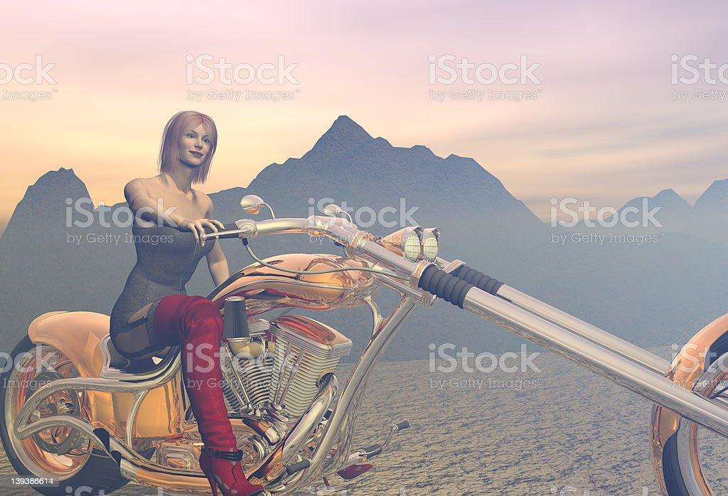 Motorbike model royalty-free stock photo