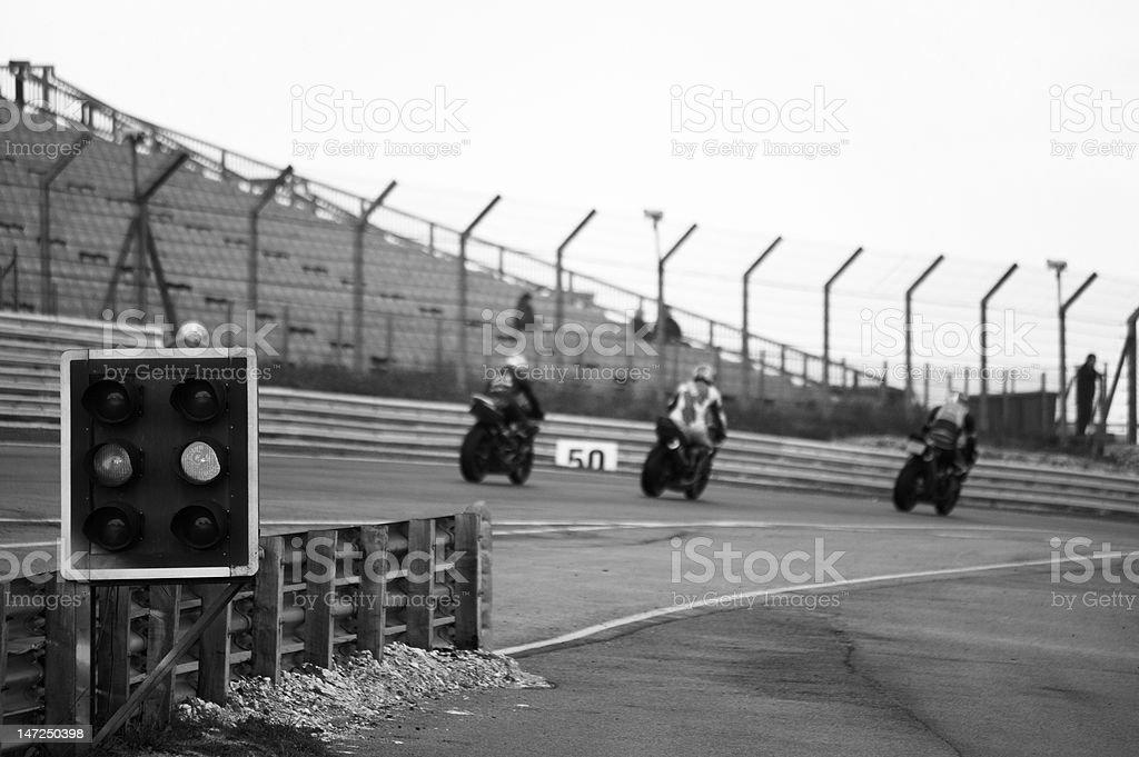 Motorbike racing stock photo
