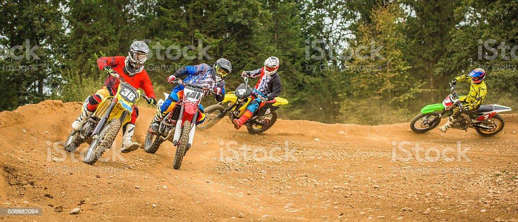 Motorbike riding stock photo