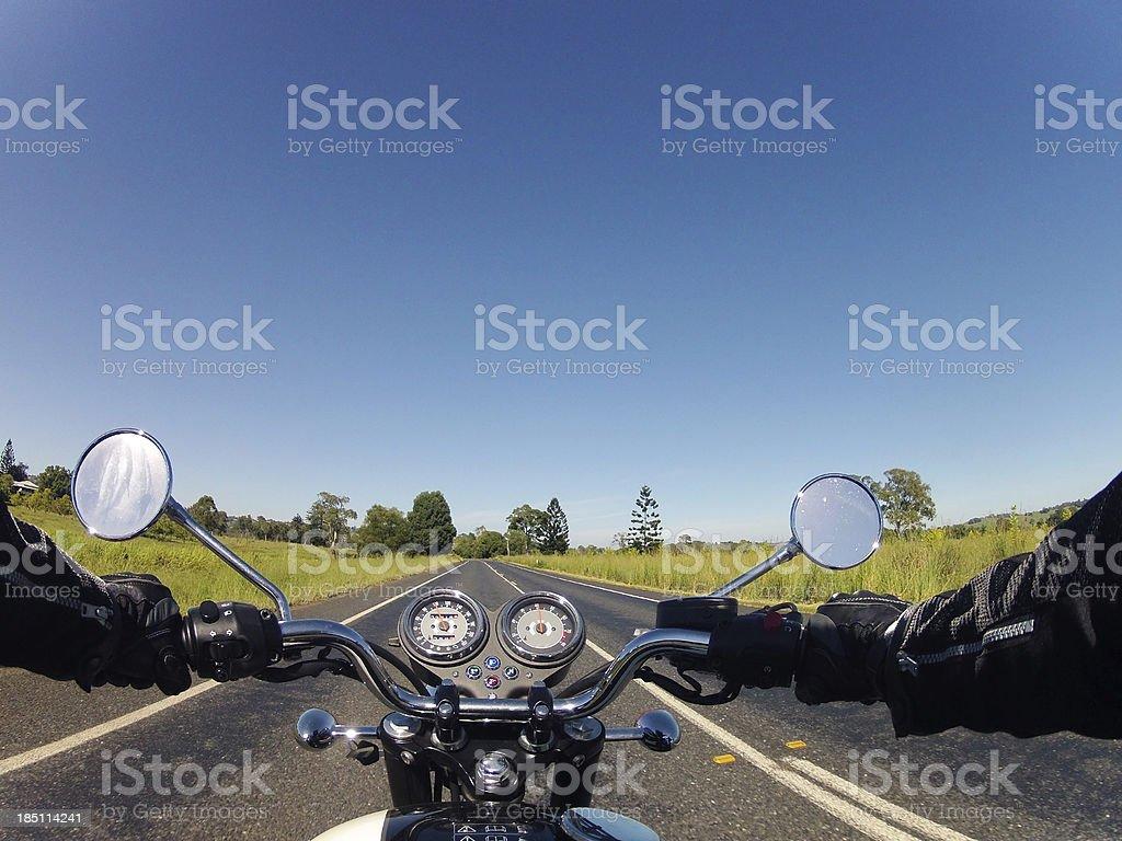 Motorbike Road stock photo