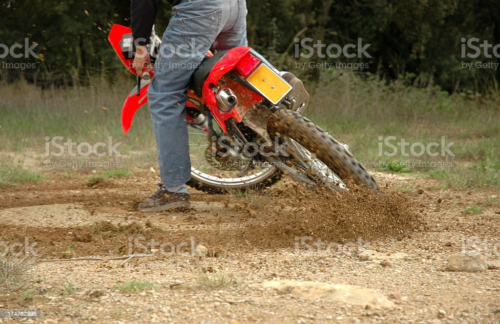Motorbike sliding stock photo