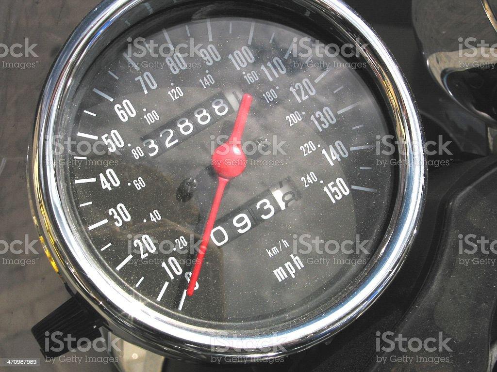 Motorbike Speedometer royalty-free stock photo