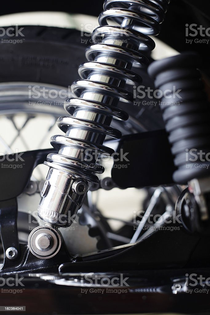 Motorbike Suspension royalty-free stock photo