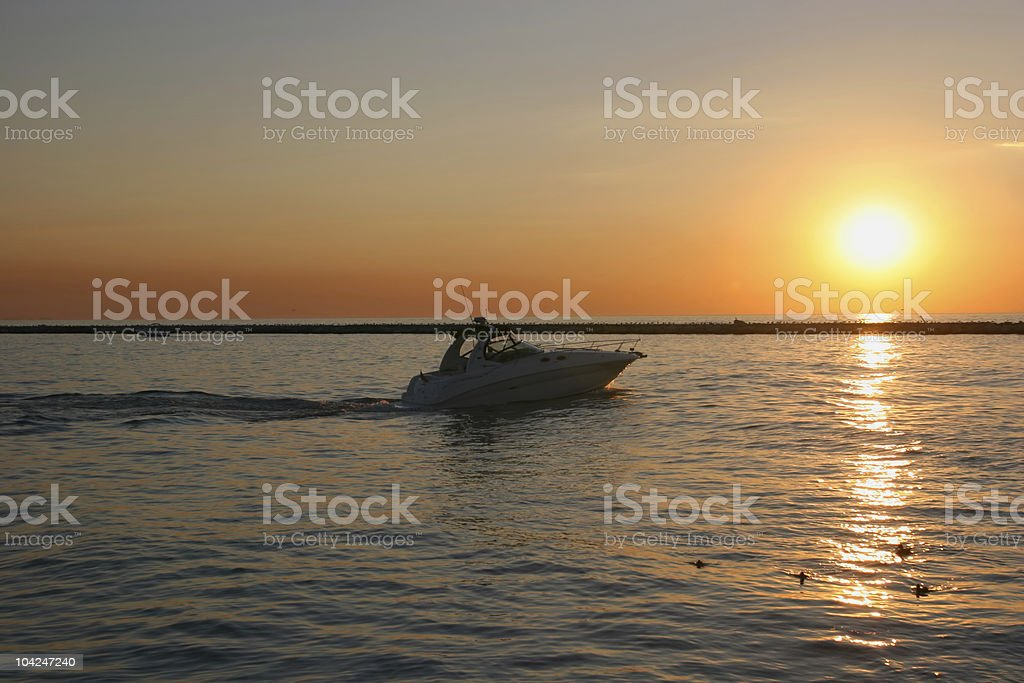 Motorboat 1 royalty-free stock photo