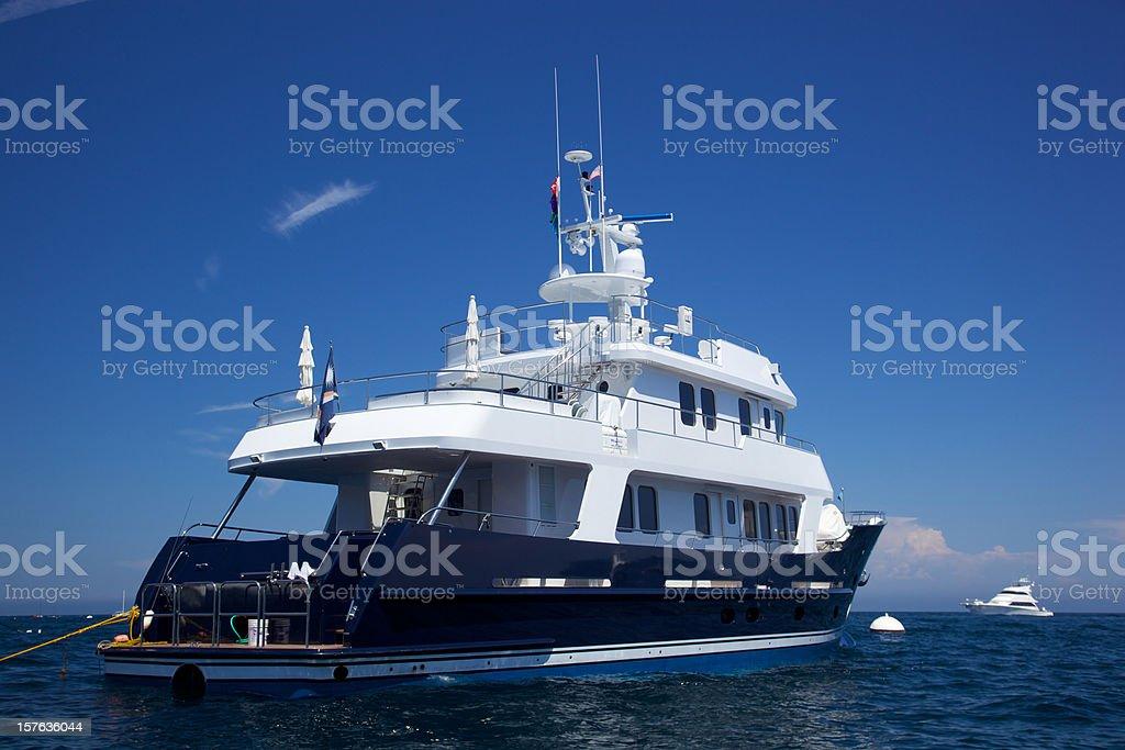 Motorboat Catalina Island stock photo