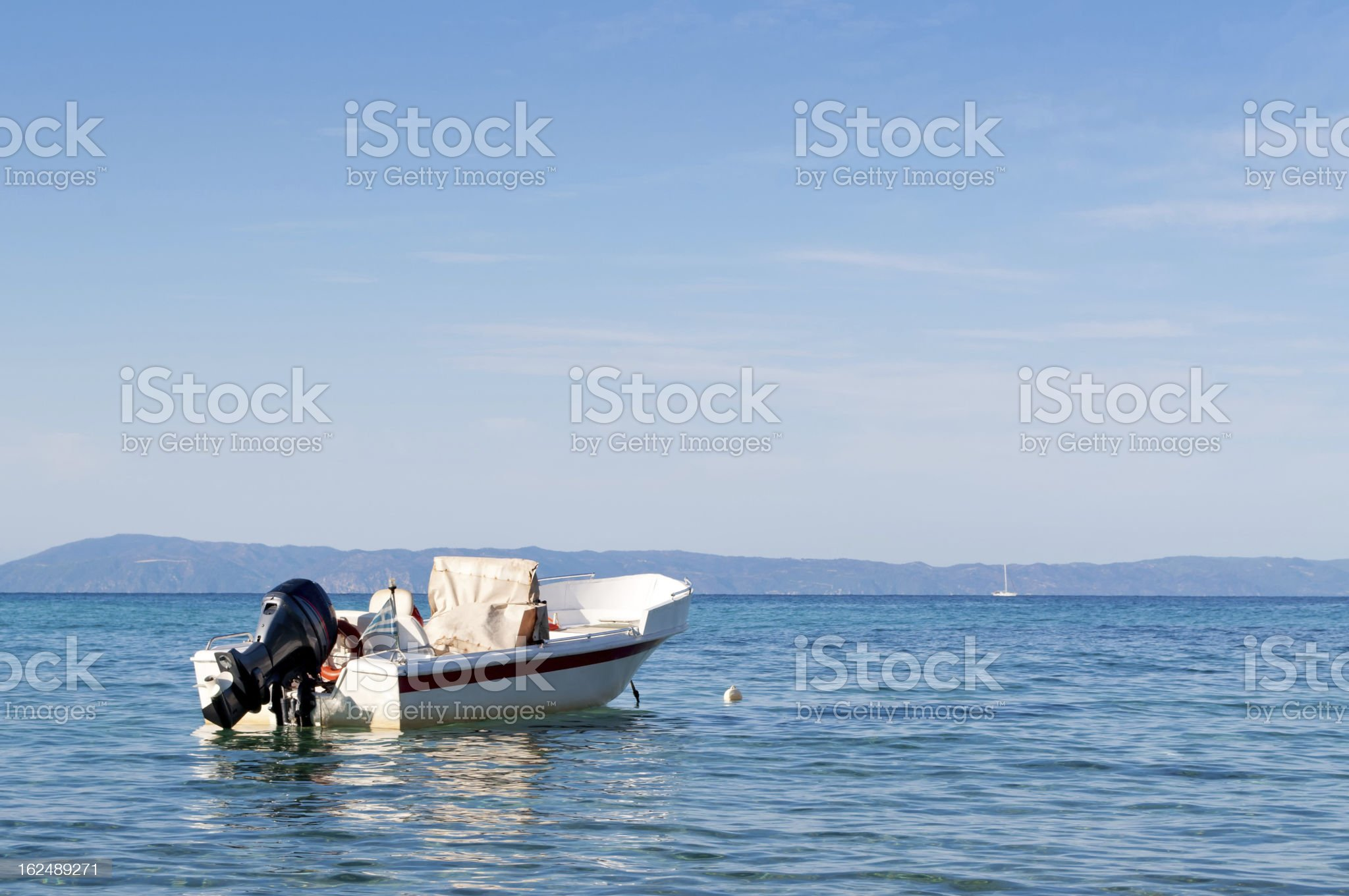 Motorboat on the sea royalty-free stock photo