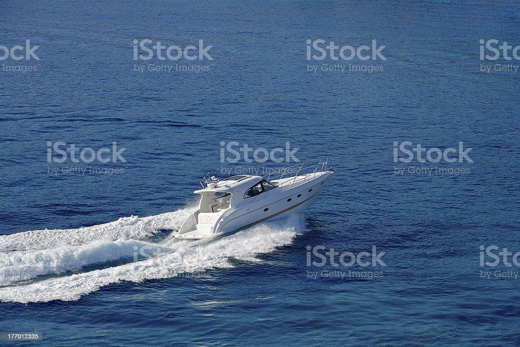 Motorboat royalty-free stock photo