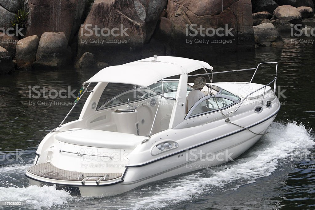 Motorboat royalty-free stock photo