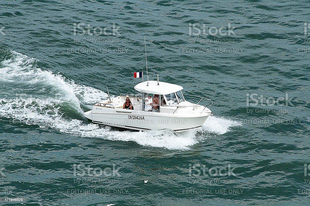 Barca di velocità, Francia foto stock royalty-free