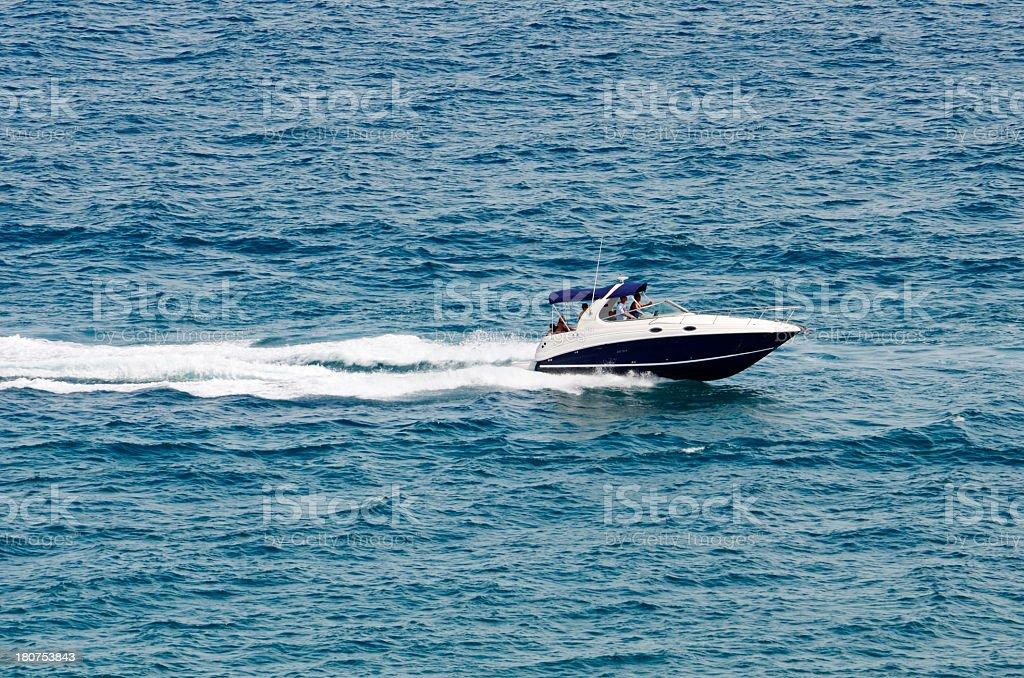 Motorboating royalty-free stock photo