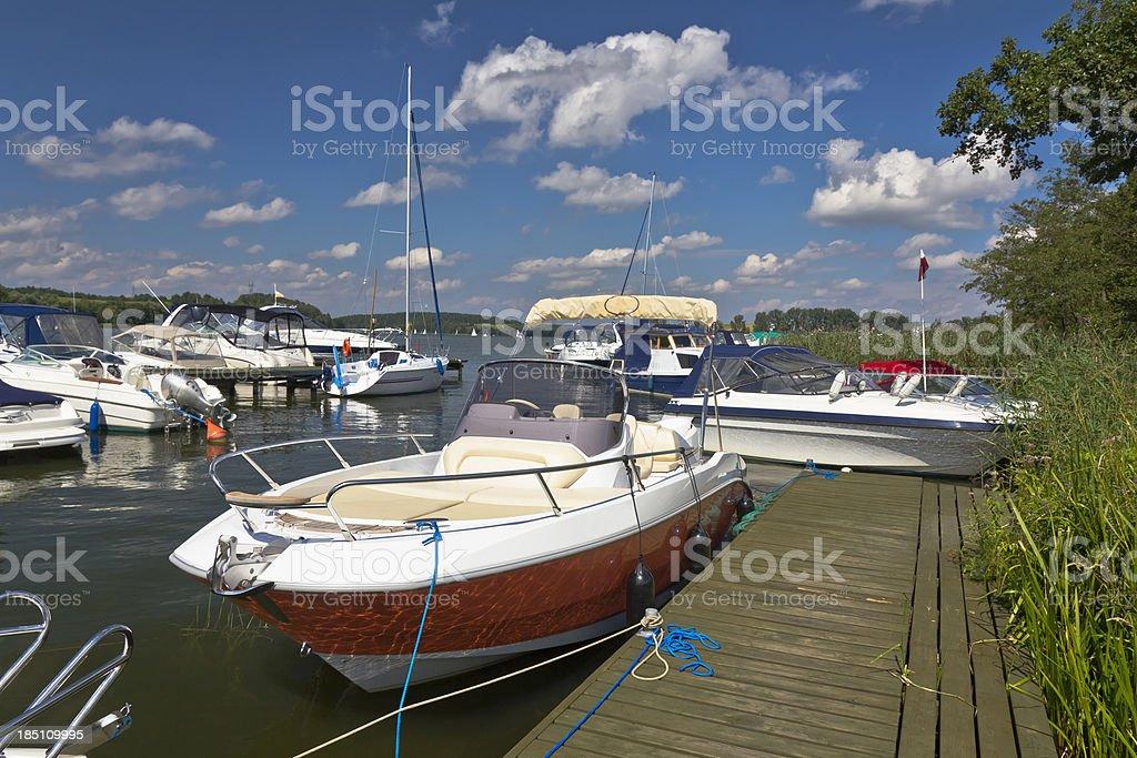 Motorboats in Marina royalty-free stock photo