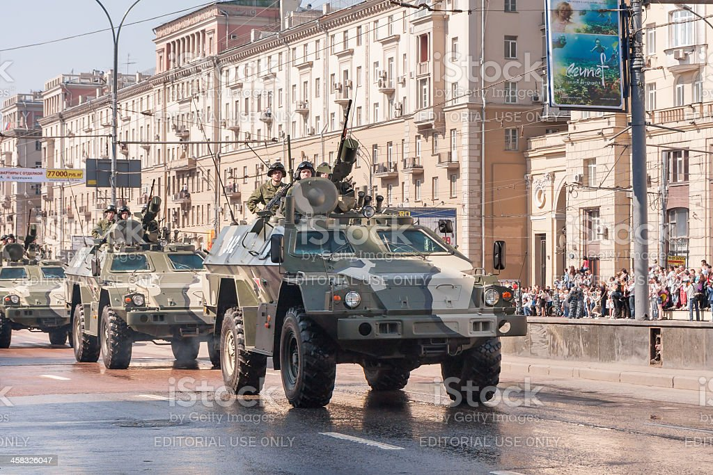 BPM-97 motorcade moves on display during parade festivities royalty-free stock photo
