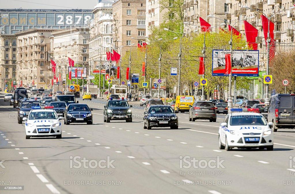 Motorcade of Dignitaries stock photo
