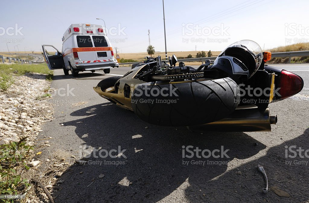 motorcycle accident royalty-free stock photo