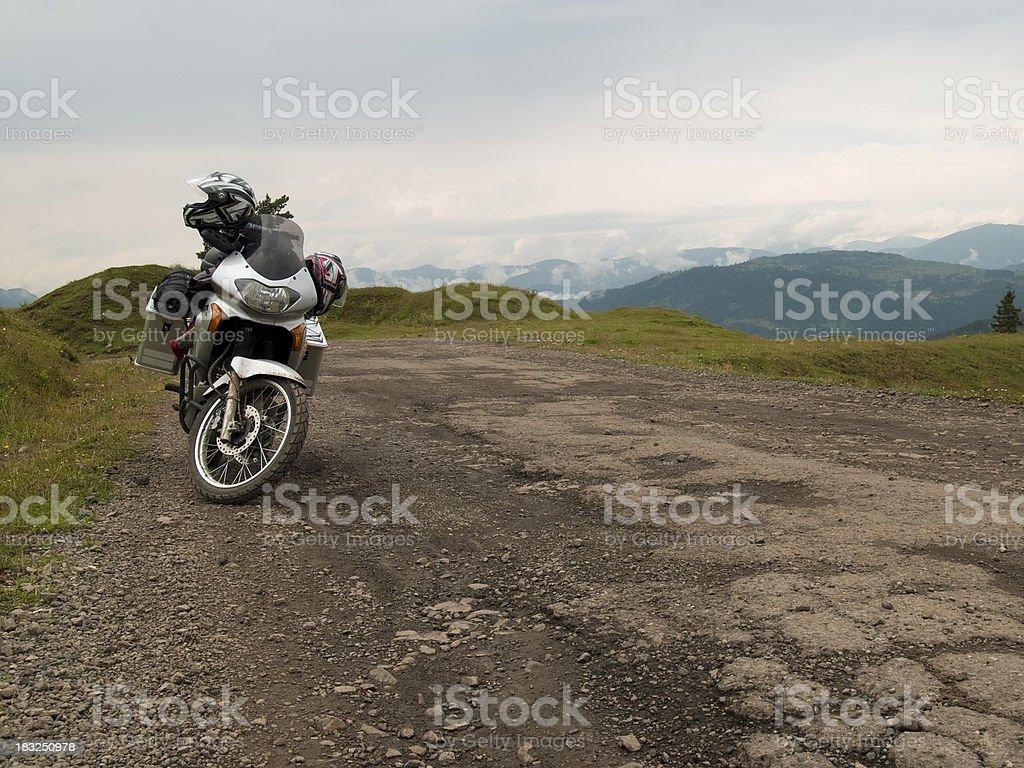 Moto adventure stock photo