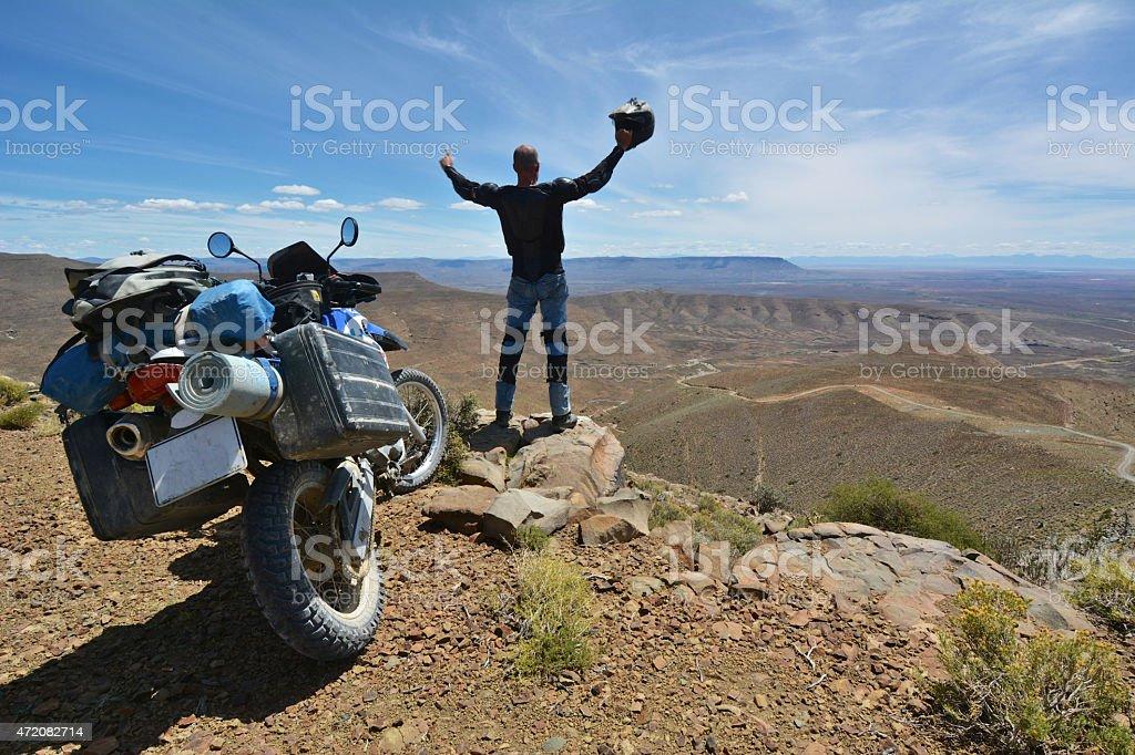 motorcycle adventure stock photo