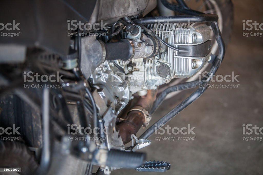 Motorcycle boxer engine stock photo