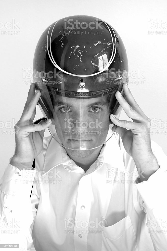 Motorcycle business man royalty-free stock photo