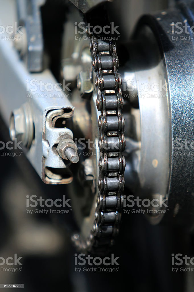 motorcycle chain stock photo