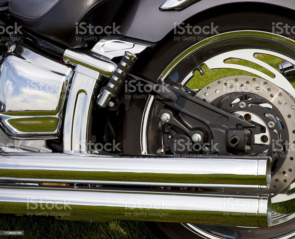 Motorcycle Chrome royalty-free stock photo
