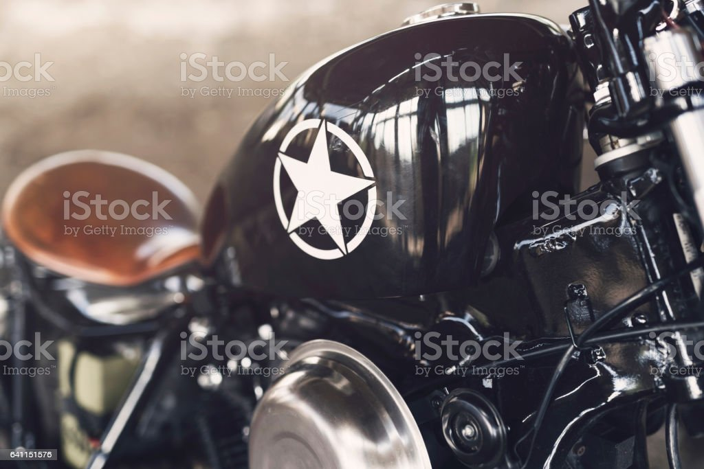 Motorcycle Components stock photo
