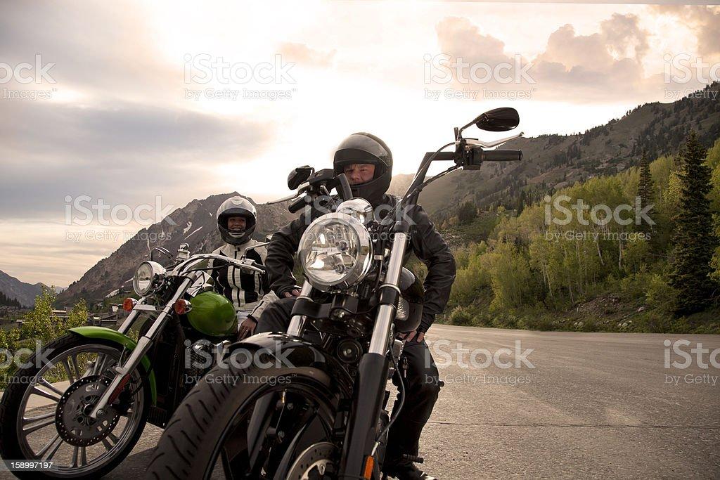 Motorcycle Couple stock photo