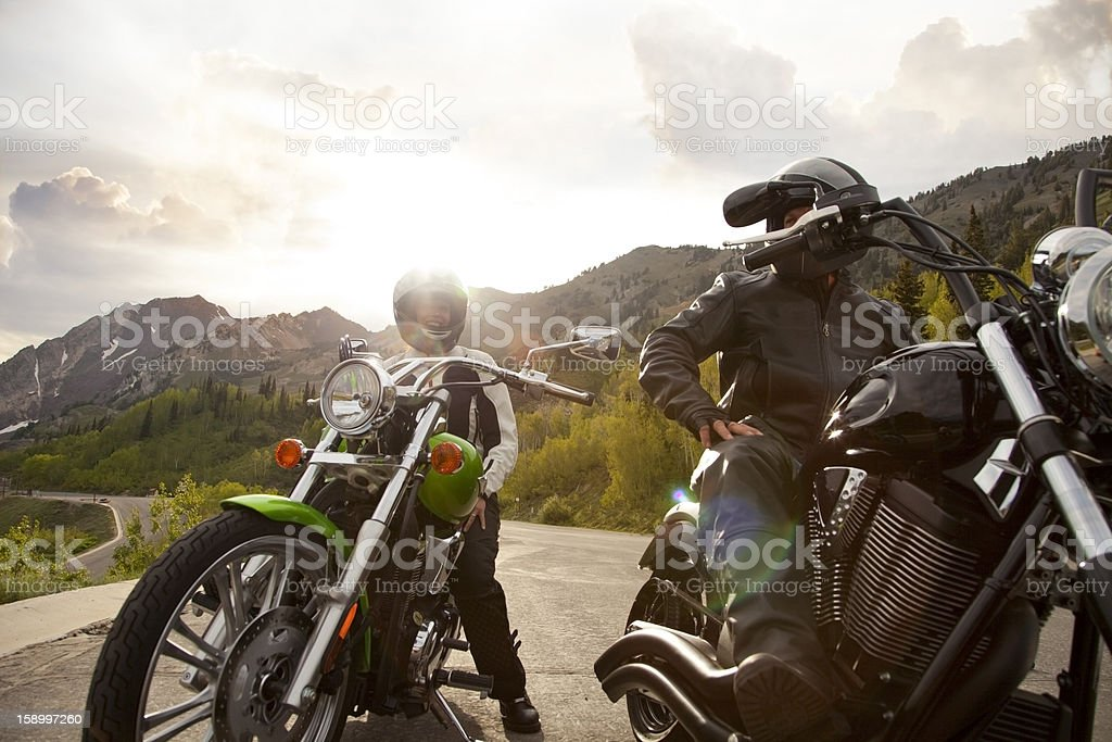 Motorcycle Couple royalty-free stock photo