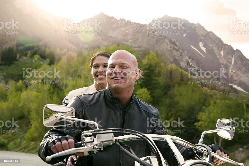 Motorcycle Couple royalty-free stock photo