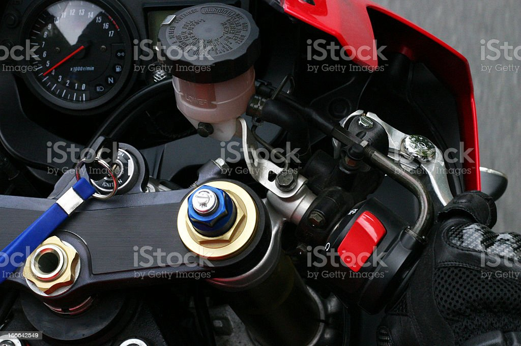 Motorcycle dashboard detail royalty-free stock photo