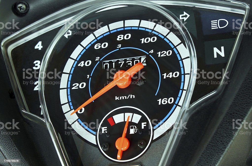 Motorcycle Dials stock photo