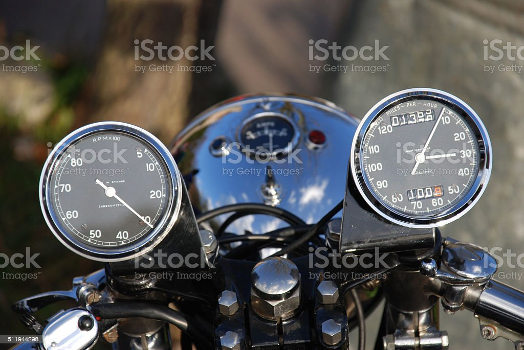 Motorcycle Dials stock photo