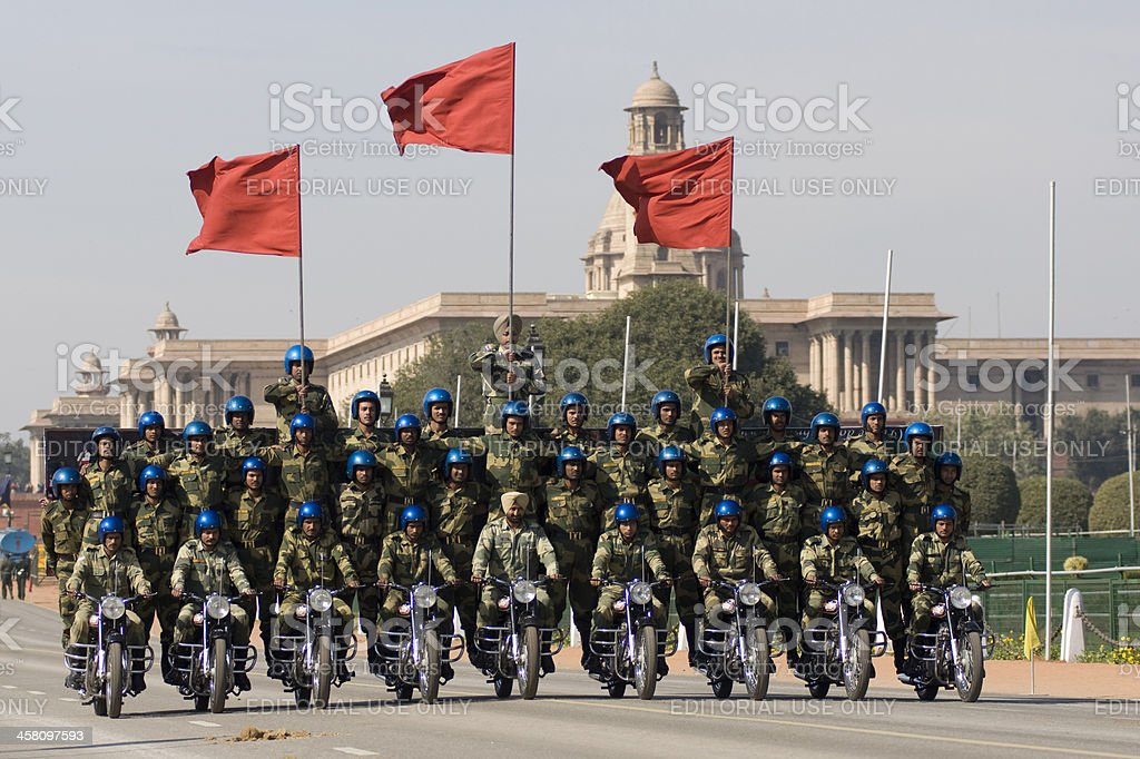 Motorcycle Display Team royalty-free stock photo
