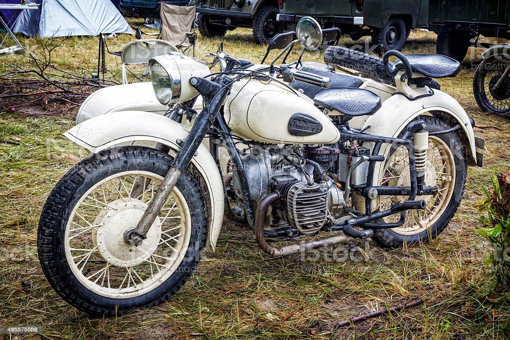 Motorcycle Dniepr K-750 stock photo