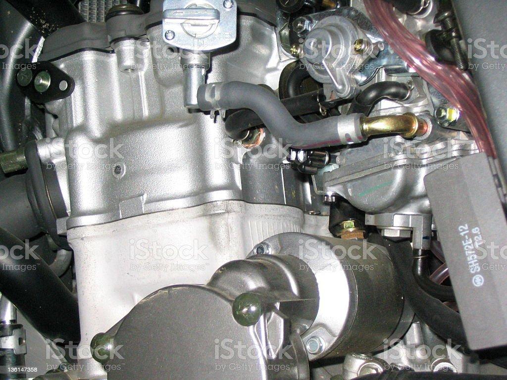 Motorcycle Engine Closeup royalty-free stock photo