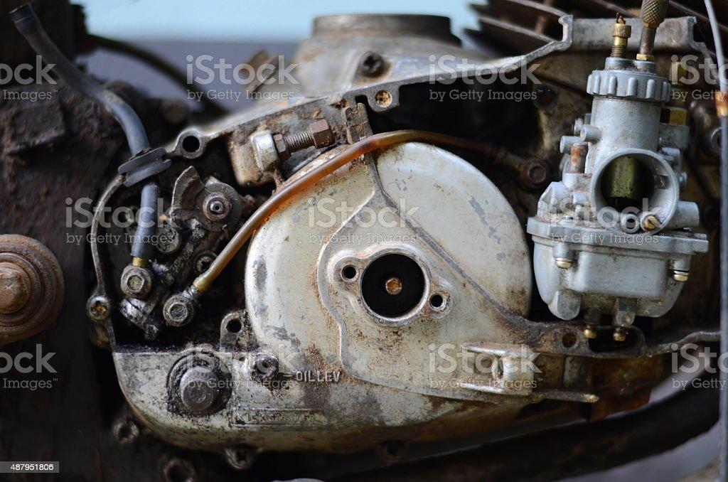 Motorcycle Engines stock photo