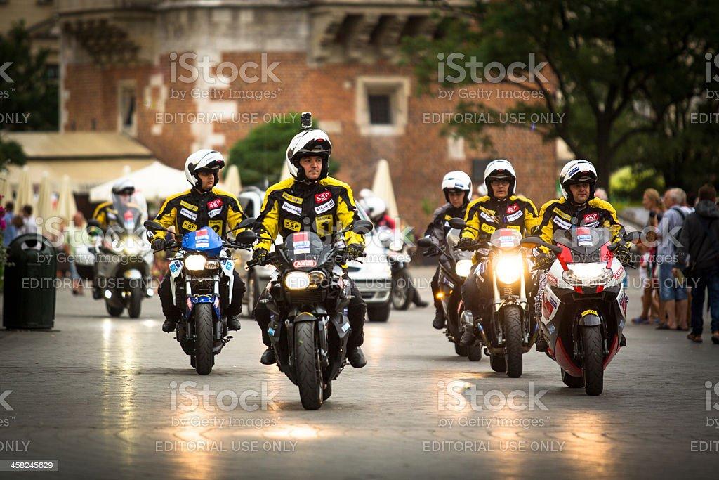 Motorcycle escort for Tour de Pologne royalty-free stock photo