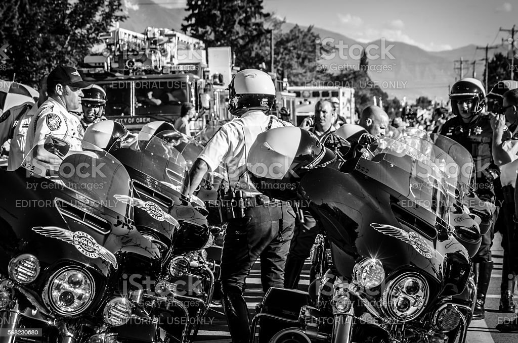 Motorcycle Escort photo libre de droits