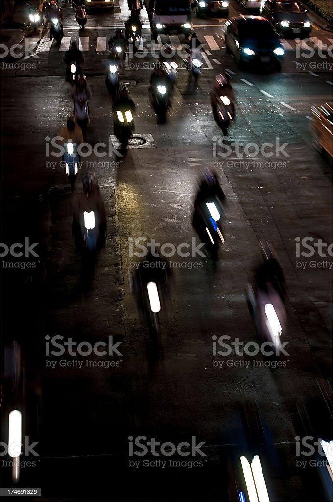 Motorcycle Frenzy royalty-free stock photo