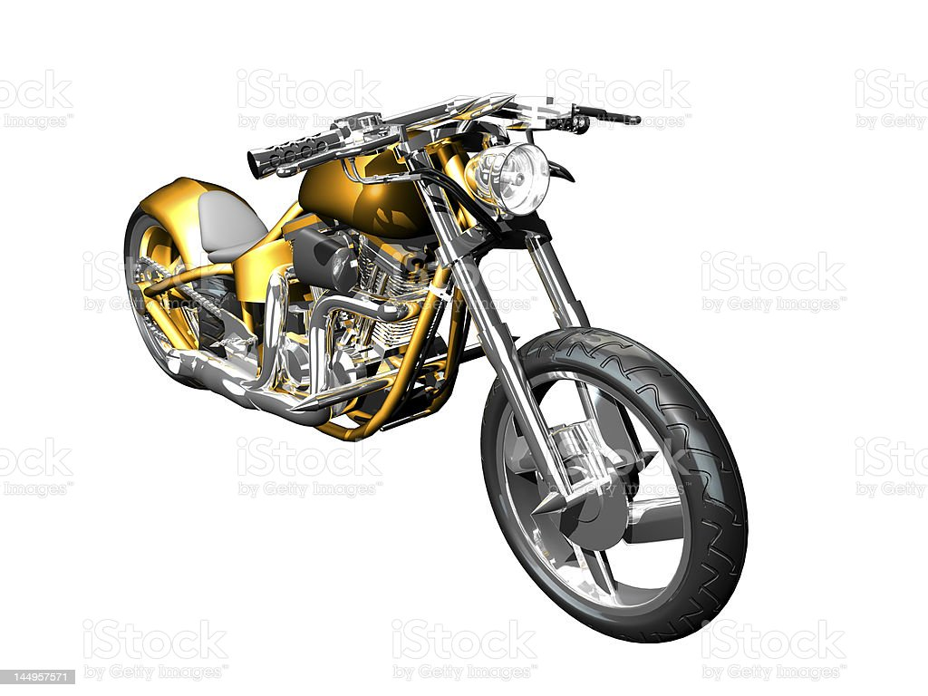 Motorcycle front side view royalty-free stock photo