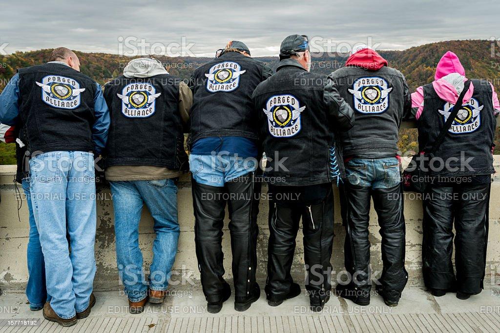 Motorcycle Gang stock photo