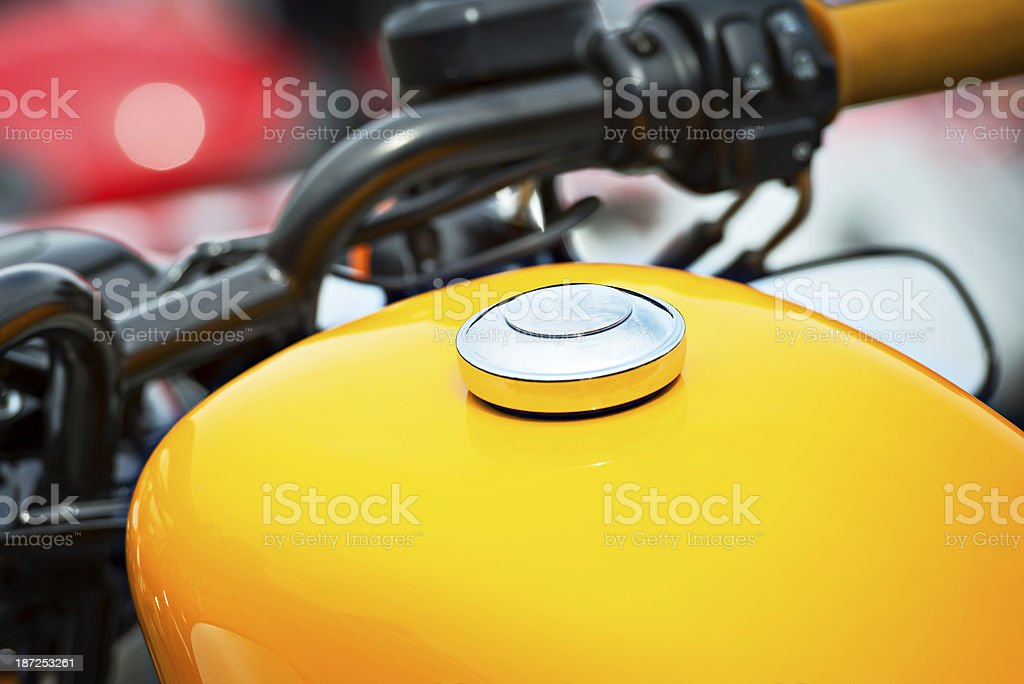Motorcycle Gas Tank royalty-free stock photo