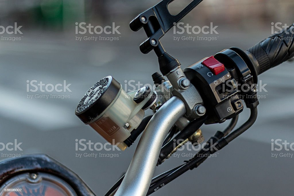 Motorcycle general closeup stock photo