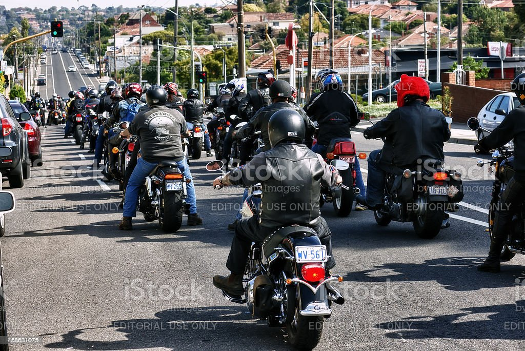 Motorcycle Good Friday Charity Ride stock photo